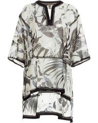 Roberto Cavalli Printed Silk Caftan - Lyst