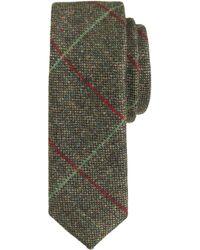 J.Crew English Wool Tie in Multi Diamond Check - Lyst