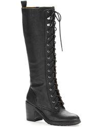 Nine West Valory Lace-Up Boots - Lyst