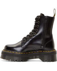 Dr. Martens Black Platform 8_Eye Jadon Boots black - Lyst