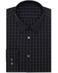 Elie Tahari Black Check Dress Shirt - Lyst
