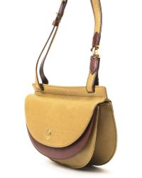 Cartier Two-Tone Shoulder Bag yellow - Lyst