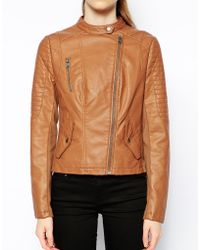 Oasis Sophie Faux Leather Biker Jacket - Lyst