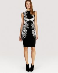 Karen Millen Dress - Geometric Jacquard Knit - Lyst