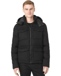 Calvin Klein Black Hooded Jacket - Lyst