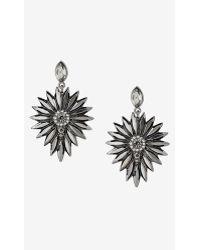 Express Stone Burst Drop Earrings - Lyst