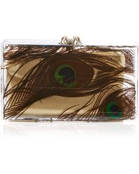 Charlotte Olympia Peacock Pandora Perspex Clutch - Lyst