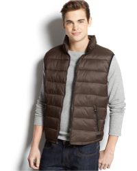 Calvin Klein Packable Puffer Vest brown - Lyst