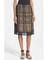 M Missoni Women'S Sheer Overlay Skirt - Lyst