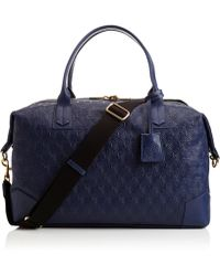 Liberty - Navy Iphis Leather Regent Weekend Bag - Lyst