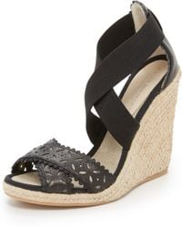 Club Monaco - Lulloo Wedge Sandals - Lyst