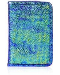Topshop Metallic Oytser Card Holder - Lyst