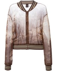 Jean Paul Gaultier Sheer Printed Bomber Jacket - Lyst