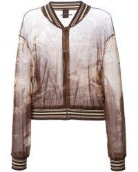 Jean Paul Gaultier Sheer Printed Bomber Jacket - Lyst