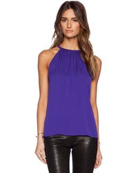 Diane Von Furstenberg Purple Pania Top - Lyst