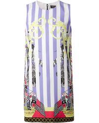 Versace Striped Ship Print Dress - Lyst
