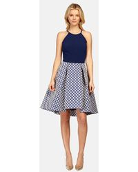 Phoebe - Mixed Media Fit & Flare Dress - Lyst