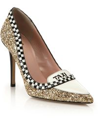 Kate Spade | Lexie Glitter & Patent Leather Taxi Pumps | Lyst