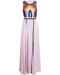 Mara Hoffman Backless Beaded Gown - Lyst