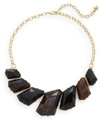 Cara Couture - Geometric Stone Collar Necklace/goldtone - Lyst