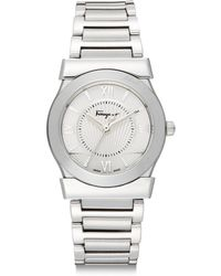 Ferragamo Stainless Steel Bracelet Watch - Lyst