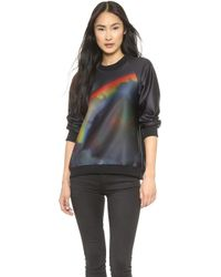 Cynthia Rowley Moonbow Bonded Sweatshirt  Moonbow - Lyst
