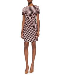 Diane von Furstenberg Short-Sleeve Printed Tie Dress - Lyst
