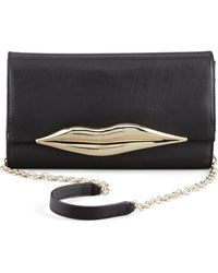 Diane Von Furstenberg Flirty Leather Clutch Bag - Lyst