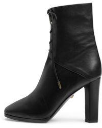 Diane von Furstenberg   Paden Leather Ankle Boots   Lyst