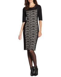 DKNY Leatheryoked Knit Dress - Lyst