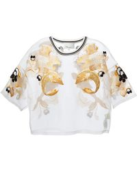 3.1 Phillip Lim Fish Embroidered Sheer Blouse - Lyst
