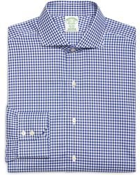 Brooks Brothers Black Fleece Long-Sleeve Button-Down Mini Check Shirt - Lyst
