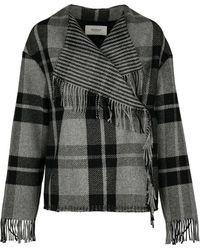 Pringle of Scotland   Wool Blend Wrap Blanket Jacket   Lyst