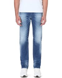 Diesel Buster Slimfit Tapered Stretchdenim Jeans Blue - Lyst