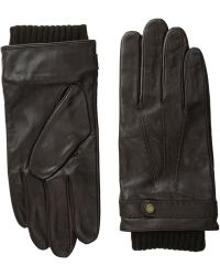 Ted Baker Core Leather Stab Stitch Gloves - Lyst