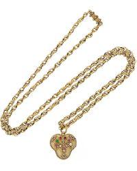 Olivia Collings - 1820S 18-Karat Gold Multi-Stone Heart Locket Necklace - Lyst