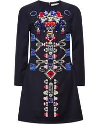 Mary Katrantzou Embellished-wool Dress - Lyst