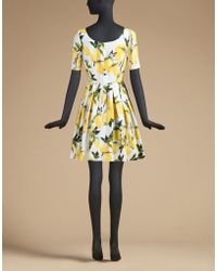 Dolce & Gabbana | Short-sleeved Dress In Printed Cotton | Lyst