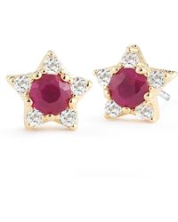 Elizabeth And James Bassa Ruby Star Stud Earrings - Lyst
