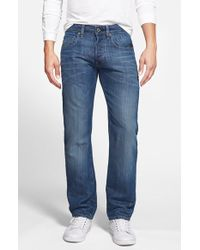 G-Star RAW 'Attacc Low' Straight Leg Jeans blue - Lyst