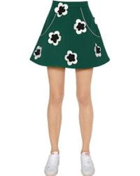 Anna K - Cotton Drill Skirt With Satin Flowers - Lyst