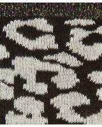 Alto Milano - Black And White Leopard Print Cotton-Blend Socks - Lyst