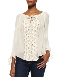 Golden by JPB - Big Sur Crochet-panel Top - Lyst