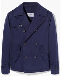 Mango Man Cotton Canvas Trench Coat - Lyst