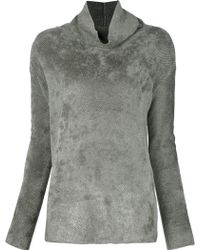 Transit - Roll Neck Ribbed Sweater - Lyst