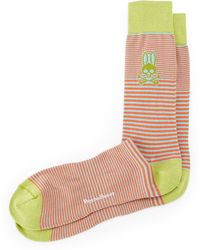 Psycho Bunny Micro Striped Socks