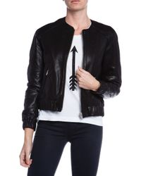 Veda Street Leather Bomber Jacket - Lyst