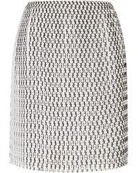 Thakoon Pleated Polka Dot Mini Skirt - Lyst