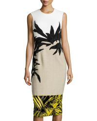 Jason Wu Botany Applique Combo Dress - Lyst
