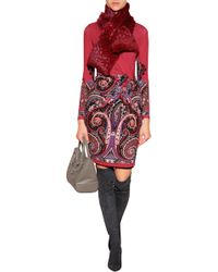 Etro Printed Jersey Wrap Dress - Lyst